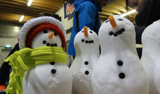 Snow Business create an army of 'real' snowmen for a PR event